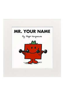 ART YOU GREW UP Mr. Strong personalised print