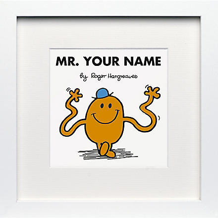 ART YOU GREW UP Mr. Tickle personalised framed print