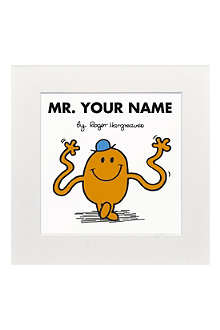ART YOU GREW UP Mr. Tickle personalised print