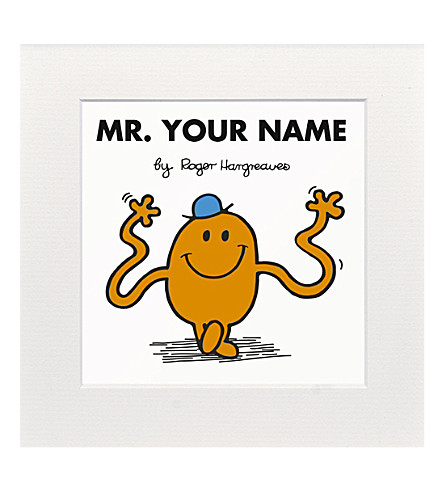 ART YOU GREW UP WITH Mr. Tickle personalised print