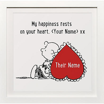 ART YOU GREW UP My Happiness Your Heart personalised art print, framed