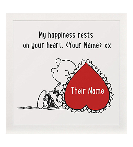 ART YOU GREW UP My Happiness Your Heart personalised art print, unframed