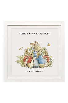 ART YOU GREW UP The Rabbit Family 1 personalised art print, framed