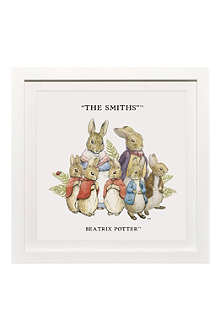 ART YOU GREW UP The Rabbit Family 2 personalised art print, framed