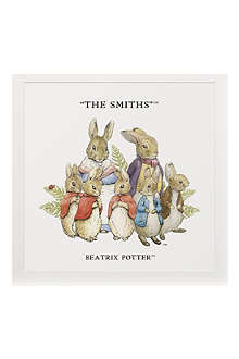 ART YOU GREW UP The Rabbit Family 2 personalised art print, unframed