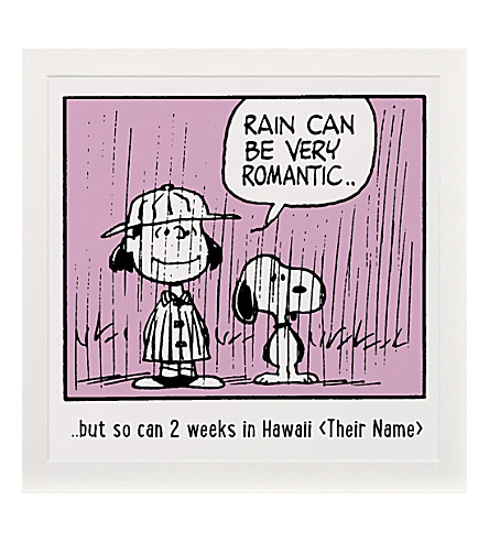 ART YOU GREW UP Rain Can Be Romantic personalised art print, pink unframed