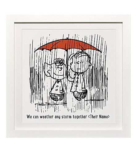 ART YOU GREW UP Weather Any Storm personalised art print, framed