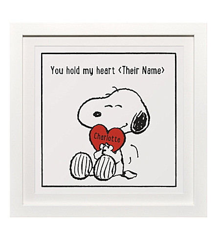 ART YOU GREW UP You Hold My Heart personalised art print, framed