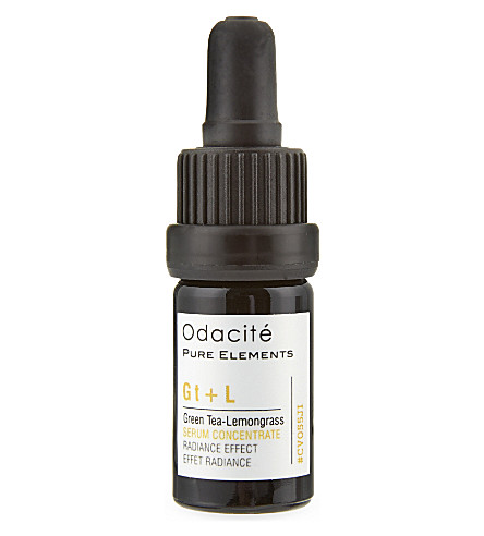 ODACITE Green Tea + Lemongrass Radiance Effect facial serum concentrate 5ml