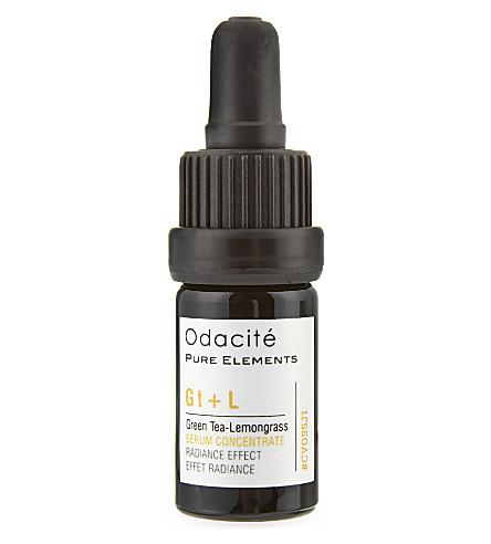 ODACITE Green Tea + Lemongrass Radiance Effect facial serum concentrate 5ml