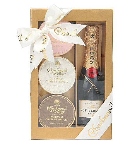 CHARBONNEL ET WALKER Champagne and truffle gift set