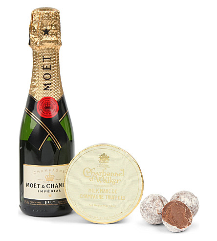 CHARBONNEL ET WALKER Champagne and truffle small gift set