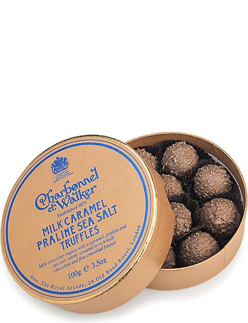 CHARBONNEL ET WALKER Milk caramel praline sea salt truffles 100g 32dc29c11