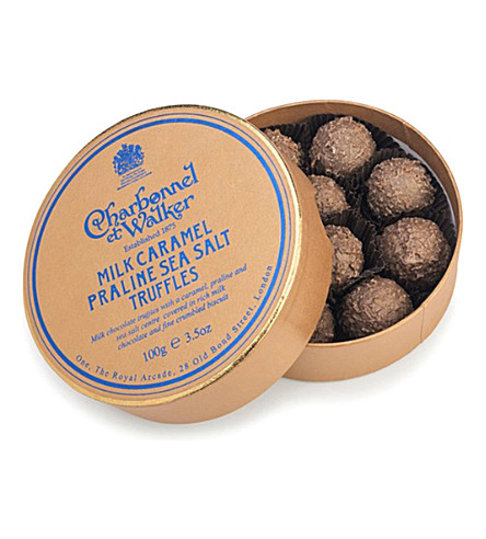 CHARBONNEL ET WALKER Milk caramel praline sea salt truffles 100g