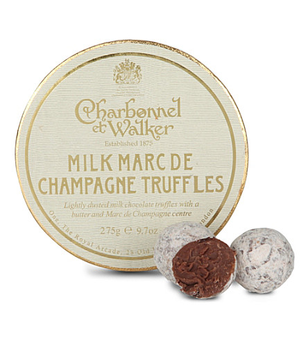 CHARBONNEL ET WALKER Milk Marc de Champagne truffles 275g