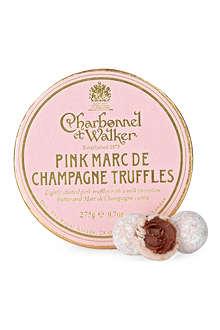 CHARBONNEL ET WALKER Pink Marc de Champagne truffles 275g
