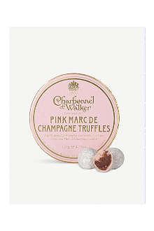 CHARBONNEL ET WALKER Pink Marc de Champagne truffles 135g