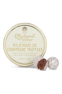 CHARBONNEL ET WALKER Milk Marc de Champagne truffles 135g