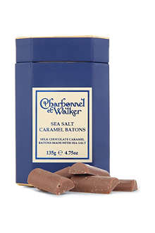 CHARBONNEL ET WALKER Milk chocolate sea salt and caramel batons 135g