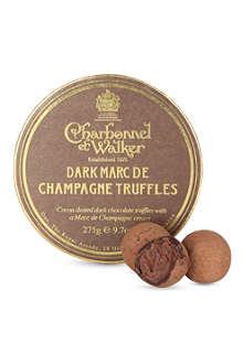 CHARBONNEL ET WALKER Dark Marc de Champagne truffles 275g