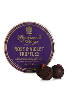CHARBONNEL ET WALKER English rose and violet truffles 110g