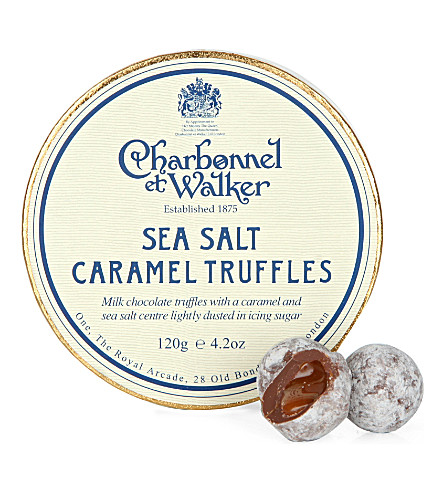 CHARBONNEL ET WALKER Milk sea salt caramel truffles 120g