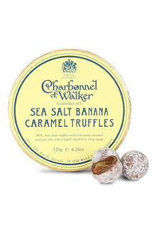 CHARBONNEL ET WALKER Milk sea salt caramel and banana truffles 120g