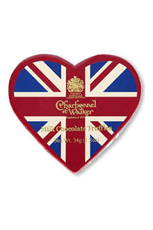 CHARBONNEL ET WALKER Union Jack cocoa dusted truffles 34g