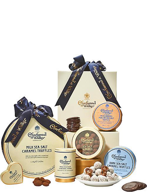 Luxury gift baskets wine spirit gift baskets selfridges charbonnel et walker decadent sea salt gift basket negle Image collections