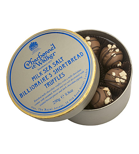 CHARBONNEL ET WALKER Sea salt billionaire's shortbread truffles 250g