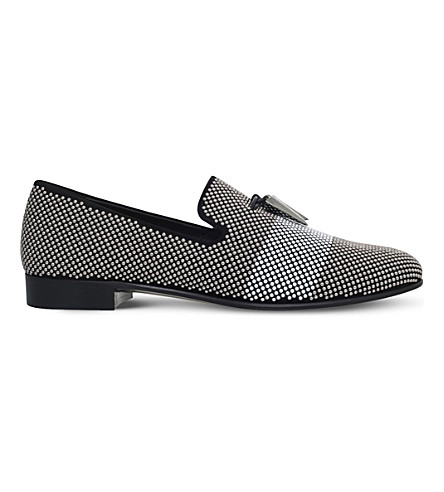 GIUSEPPE ZANOTTI Charles suede loafers (Silver