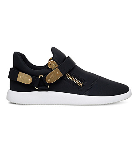 GIUSEPPE ZANOTTI Runner clasp-detail low-top leather trainers