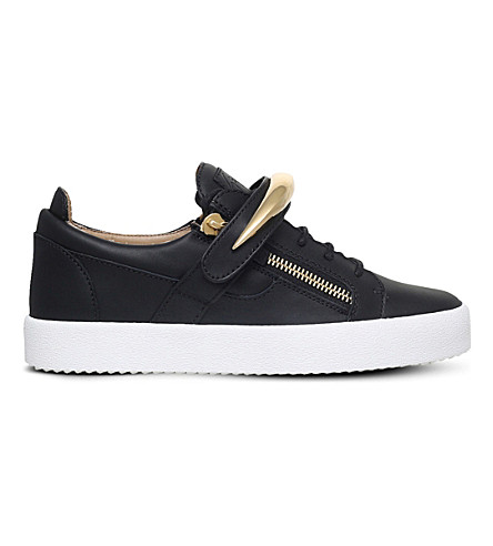 GIUSEPPE ZANOTTI Shark Tooth low-top leather trainers