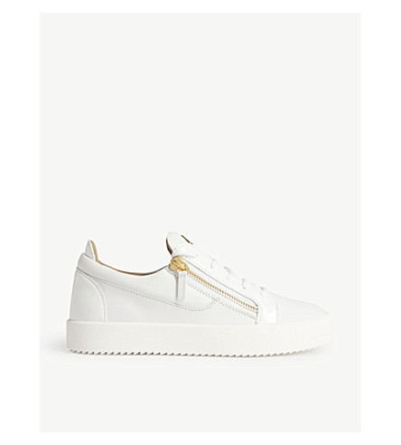 GIUSEPPE ZANOTTI Low-top leather trainers (White