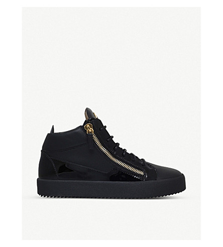 GIUSEPPE ZANOTTI Kriss patent-leather trainers (Black