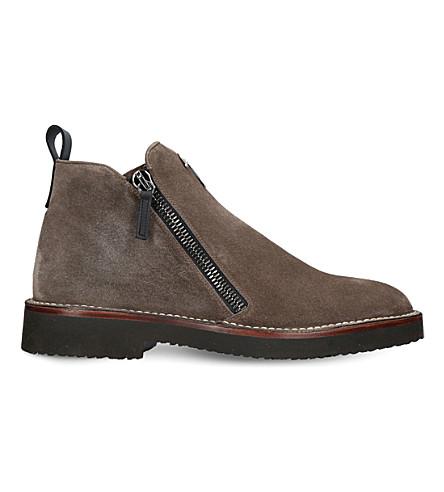 GIUSEPPE ZANOTTI Austin double-zipper leather boots (Brown