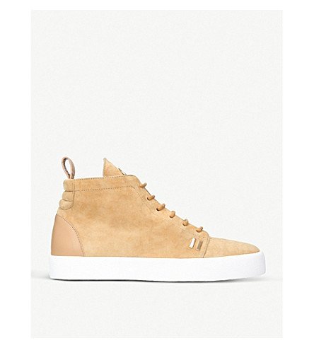 GIUSEPPE ZANOTTI Gordon suede high-top trainers (Beige
