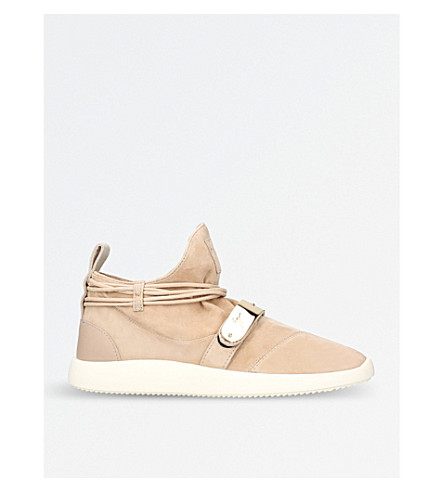 GIUSEPPE ZANOTTI Hayden suede trainers (Taupe