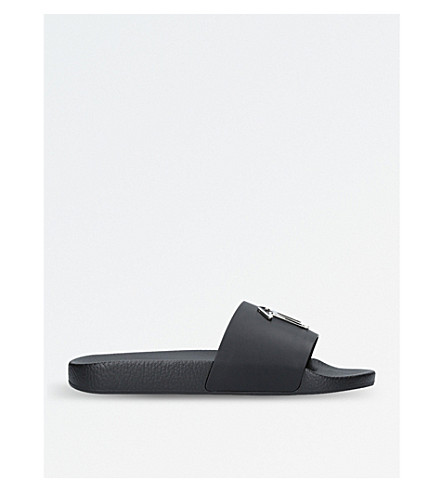 GIUSEPPE ZANOTTI Signature slide sandals (Black