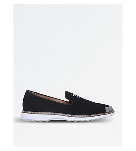 GIUSEPPE ZANOTTI Signature suede loafers (Black