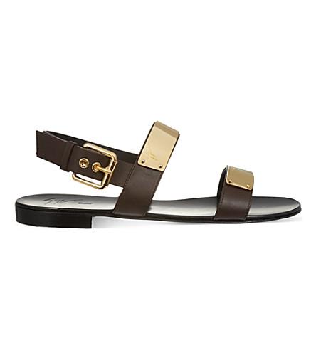 GIUSEPPE ZANOTTI Plate sandals (Blk/other