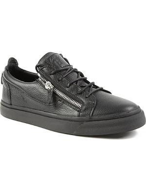 GIUSEPPE ZANOTTI Zip-lo leather trainers