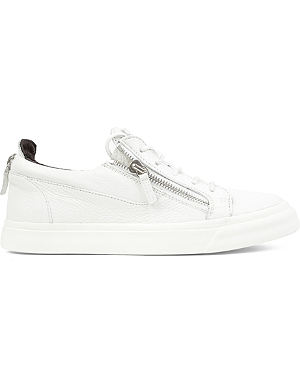 GIUSEPPE ZANOTTI Zip-lo leather trainers