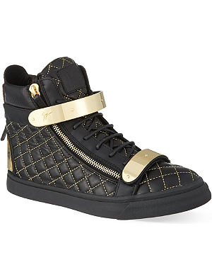 GIUSEPPE ZANOTTI Double bangle quilted hi-top trainers