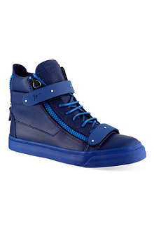 GIUSEPPE ZANOTTI Double bangle mono hi-top trainers