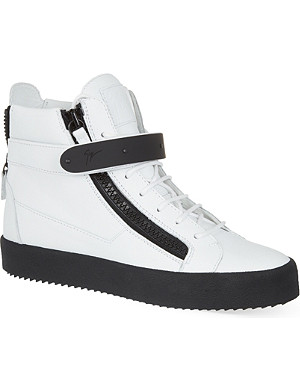 GIUSEPPE ZANOTTI Single bangle rubber hi-top trainers
