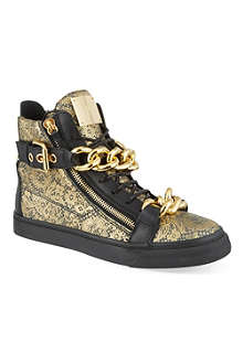 GIUSEPPE ZANOTTI Double chain lace hi-top trainers