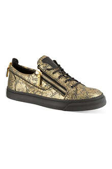 GIUSEPPE ZANOTTI Lace print zip low-top trainers