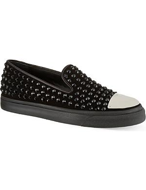 GIUSEPPE ZANOTTI Crystal studded skate shoes