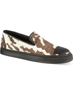 GIUSEPPE ZANOTTI Ponyhair skate shoes